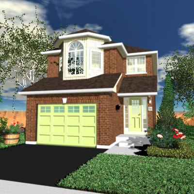 3d house sky model