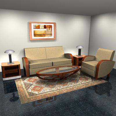 art deco living room max