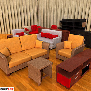 3d furniture armchair mad model