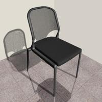 3d vitra designer chair model