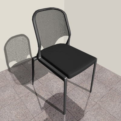 3d vitra designer chair model