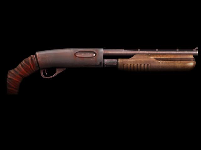 shotgun gun 3d model