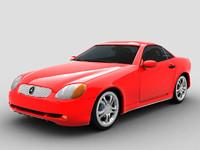 3d model mercedes benz slk 230