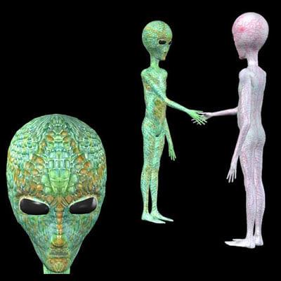 3d model classic alien pzalien 2t