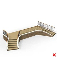 3dsmax entrance stairs