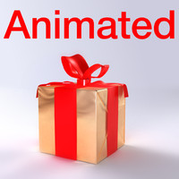 maya gift box animation
