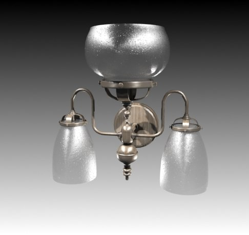 3d model of victorian wall lamp