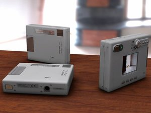 3d model minolta digital camera