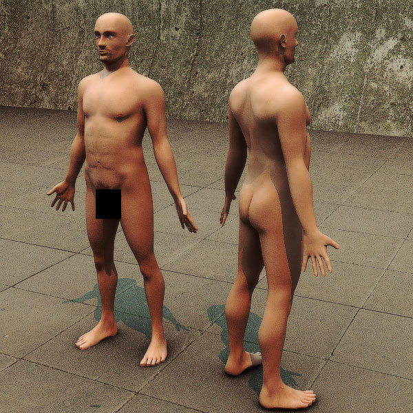3ds realistic male