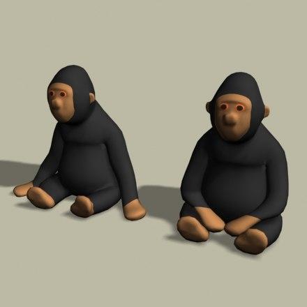 stuffed monkeys 3d 3ds