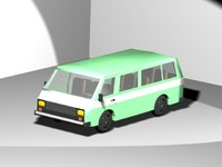 3d model of minivan