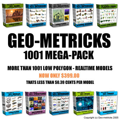 geo-metricks geo-metricks-1001 industrial bridges 3d model
