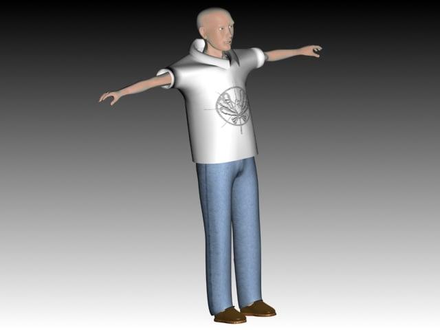 3d model of boy man