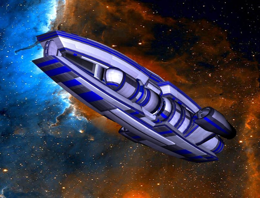 3ds max ship transport space
