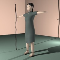 3ds max female woman