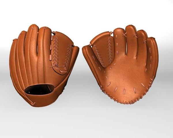 baseball gloves 3d max