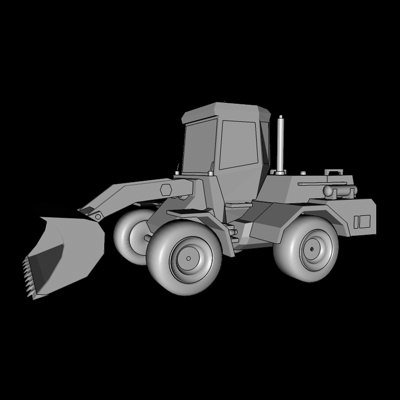wheeled loader 3d 3ds