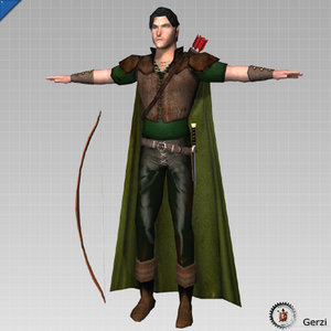 3d model elven archer ranger