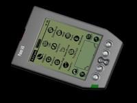 palm pda 3d model