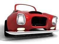 3d cute toy car