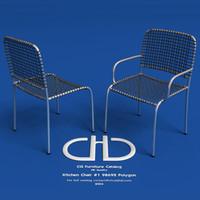3d model kitchen chair