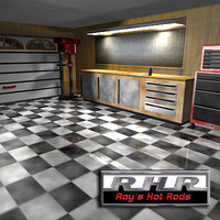 3d hot rod garage model