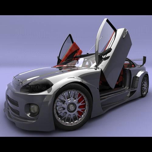 dtm car omega tropic 3d max
