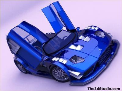 3d model bruttus 7-xr car superstreet