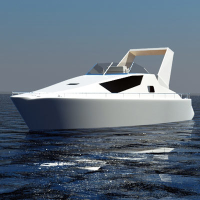3ds medium motorboat yacht
