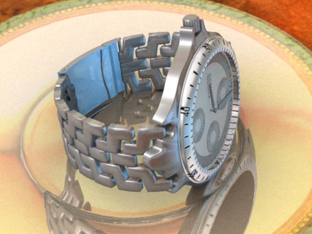 3d model watch plate