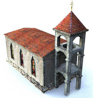 free 3ds mode church building