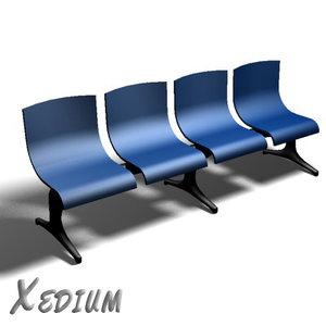 maya airport bench chairs