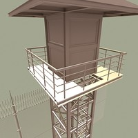 prison guard tower fence max