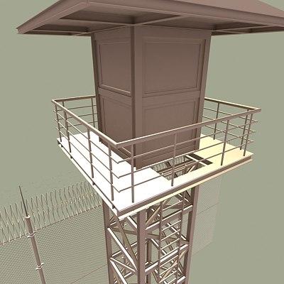 prison guard tower fence max