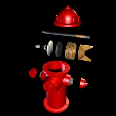 3d hydrant shockwave real-time
