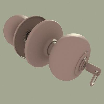 doorknob 3d max