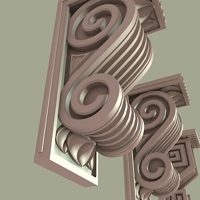 architectural corbels 3d model
