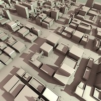 3d model city section