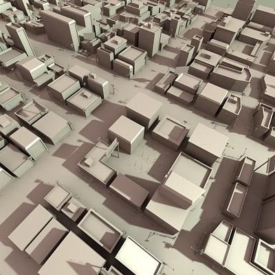 3d model city section