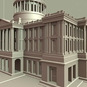 california capitol building 3d max