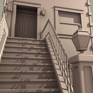 brownstone house 3d model