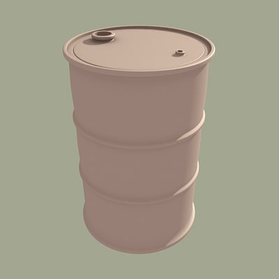 gallon oil drum 3d max