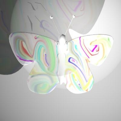 3d pretty butterfly