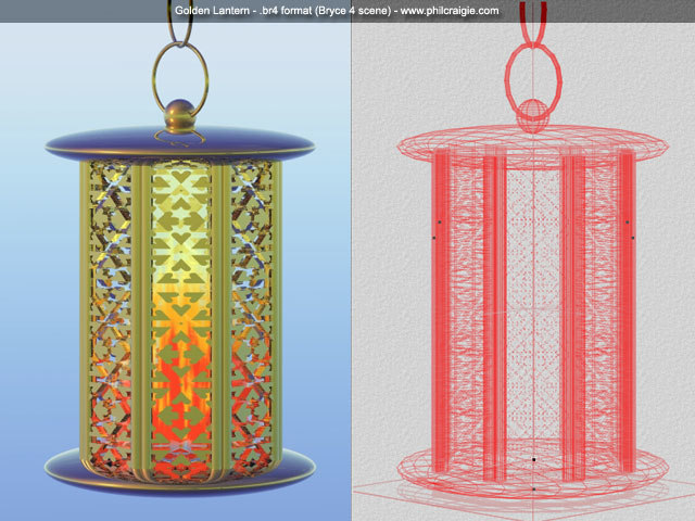 free 3ds model golden lantern zipped