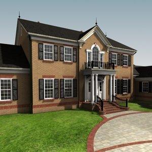 3d model custom residence