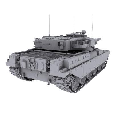 chieftain tank 3d 3ds