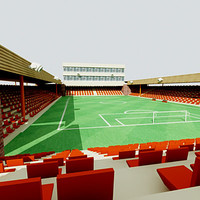 3d model lower division stadium football