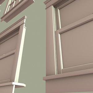 3d architectural windows model