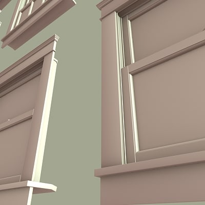 3d architectural windows model