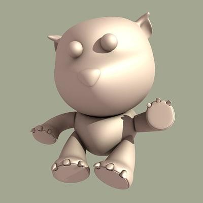 plush toy 3d model